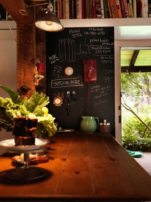 chalk board wall, great counter top: Chalkboard Walls, Kitchens Wall, Blackboard, Chalkboards Painting, Book, Chalk Boards, Cooking, Kitchens Counter, Chalkboards Wall