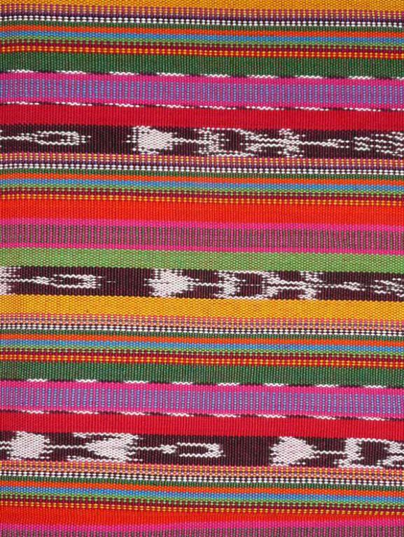 Guatemalan hand-woven cloth - nook benches