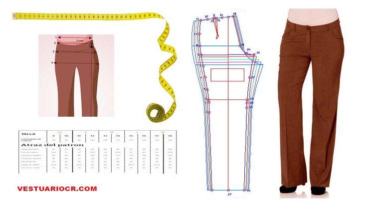 Medidas para pantalon de mujer en todos los tamaños