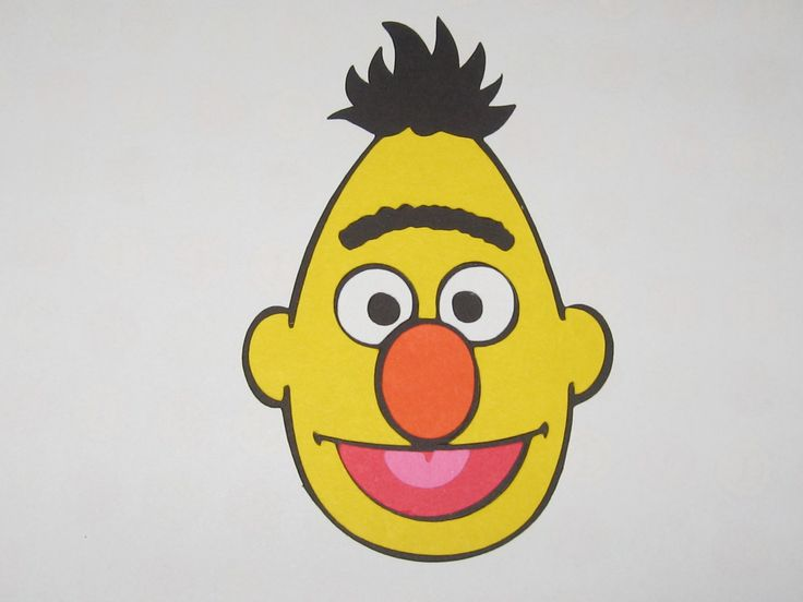 sesame street character face templates - Google Search