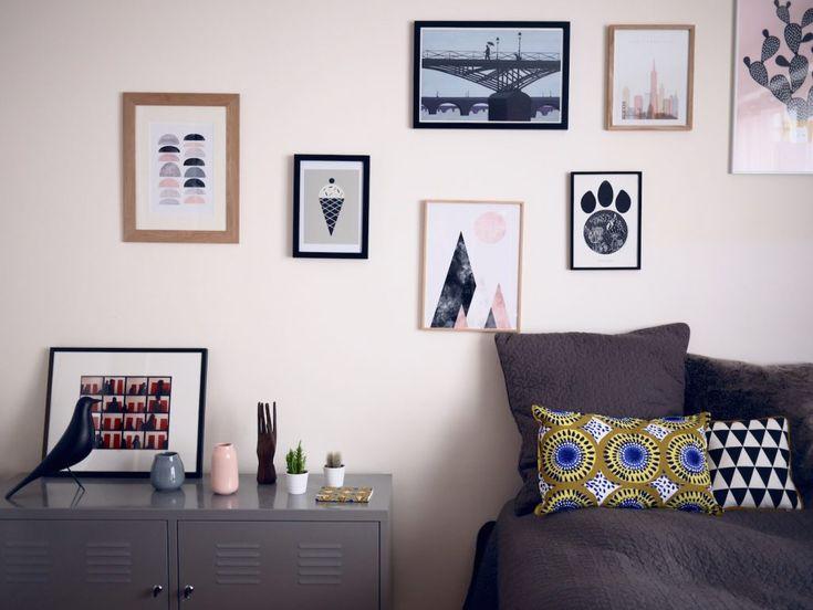 les 151 meilleures images du tableau sur les murs sur pinterest cadres architecture et peinture. Black Bedroom Furniture Sets. Home Design Ideas