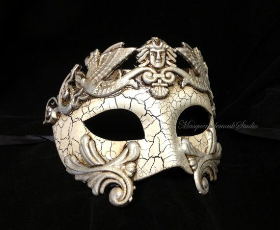 This stunning Black Silver Masquerade Mask is designed for Men, and we find Women wear Mens Mask for fun sometimes, this mask will fit most