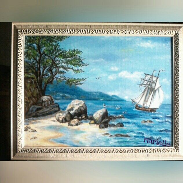 """""""Sailing-vessel"""", a canvas is oil"""
