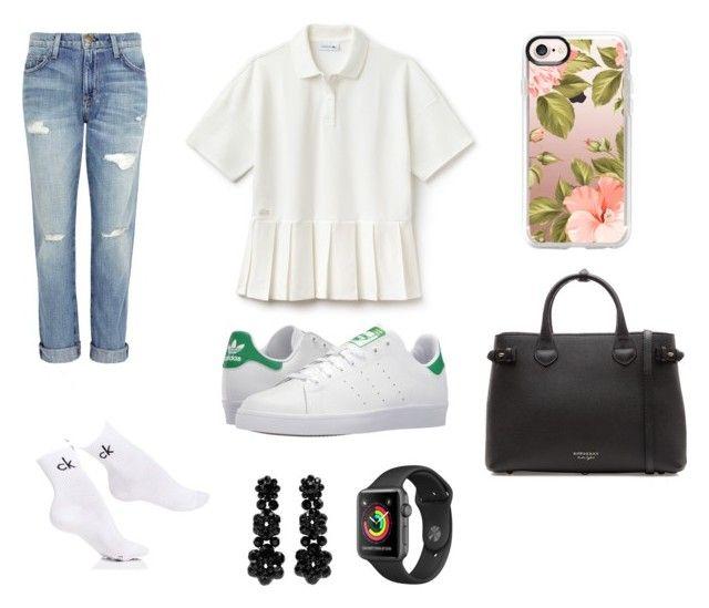 """👗"" by isagarcia18 on Polyvore featuring Current/Elliott, Lacoste, Calvin Klein, adidas, Casetify, Burberry, Simone Rocha, men's fashion y menswear"