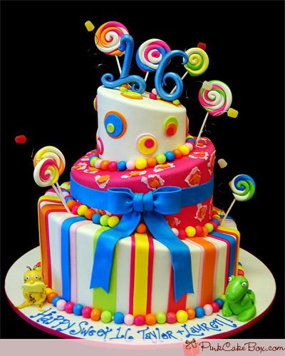 CANDY CAKE | Sweet 16 Topsy Turvy Candy Cake