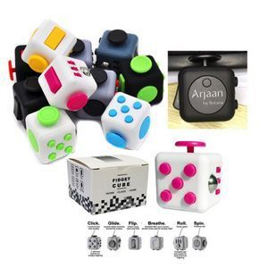 The Fidget Cube! 2017's Hottest Trade Show Giveaways. his fidget cube is made of high quality ABS and silicone. Specifically designed for people who can't keep their fingers still, and whether you're a clicker, a flicker, a roller or a spinner.  #tradeshow giveaways #imprinted promotional items