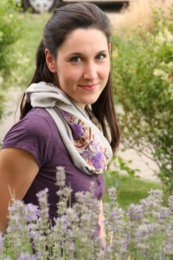 Woman infinity scarf  circle scarf  loop scarf   hand от MatyoKid, $48.00