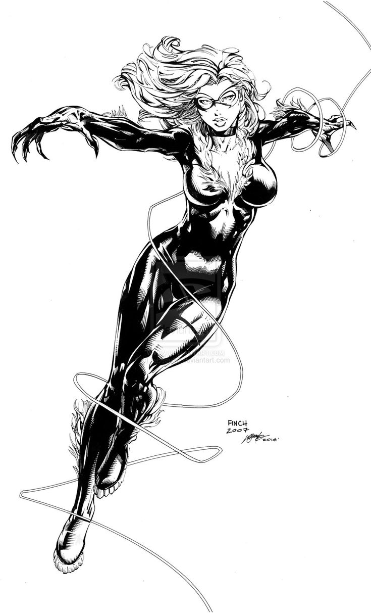BLACK CAT - Sample inks over David Finch by lebeau37.deviantart.com on @deviantART