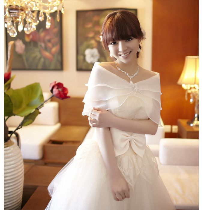 Hot Sale New Fashion Lady Shawl Flower Summer Bolero For Party Dress Shawl For Wedding Dress Wraps Cape Shrug Bolero OJ00900