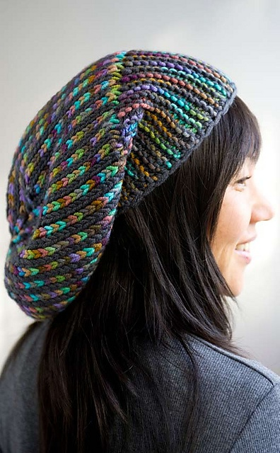 Stria Slouch pattern by Pam Grushkin