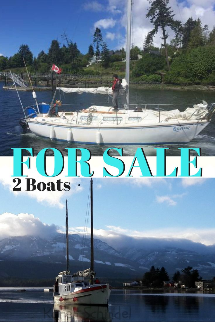 Ones great as a live aboard, the other one fun for sailing.  Both on Vancouver Island, BC.  Feel free to share with anyone you think might be interested.  http://unlimited4life.com/sailboats-for-sale/