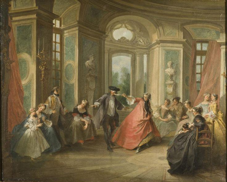 Blind Man's Buff | Nicolas Lancret (1690-1743) | Nationalmuseum, Sweden | Public Domain Marked