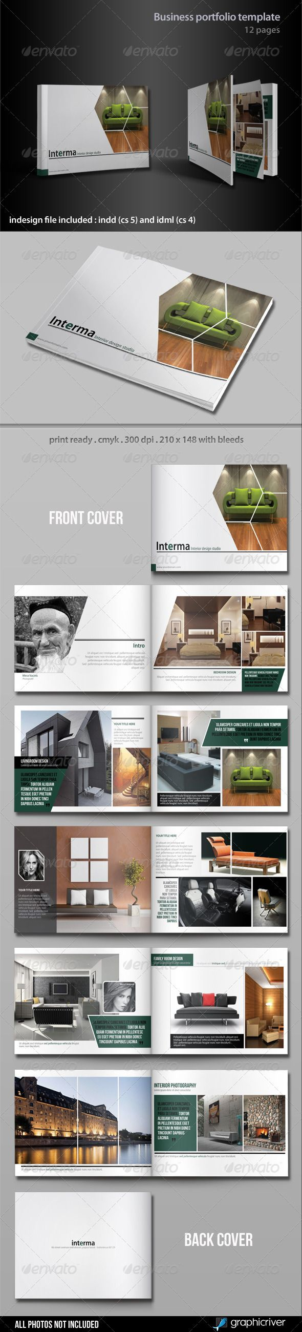 Business Portfolio Template - Portfolio Brochures