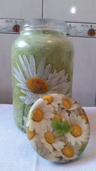 Pote decoupage margarida