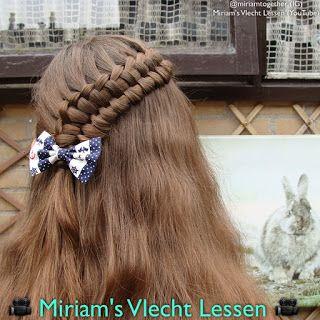 Miriam's Vlecht Lessen (Miriam's braiding instructions): Halve rits kantvlecht // Lace suspended infinity b...