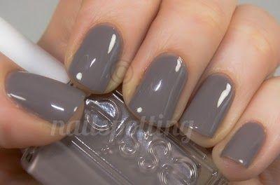 loving gray nail polish right now - Essies Chinchilly
