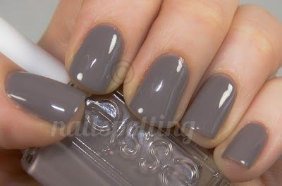loving gray nail polish right now - Essie's Chinchilly