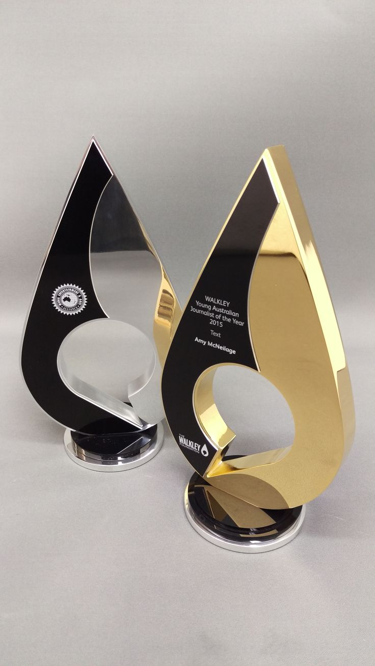 Unity tall modern trophy creative design beautiful materials not glass - Sydney Awards And Trophies