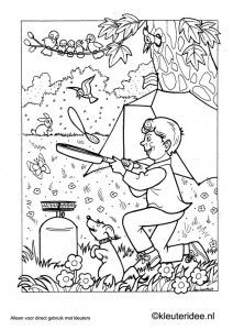kleurplaat thema camping 3 kamperen kleuterideenl preschool camping coloring camping themecamping coloring pagescolour