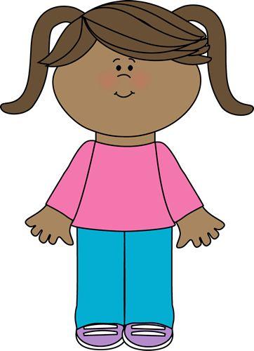 cute little girl yay cute free clip art tot school