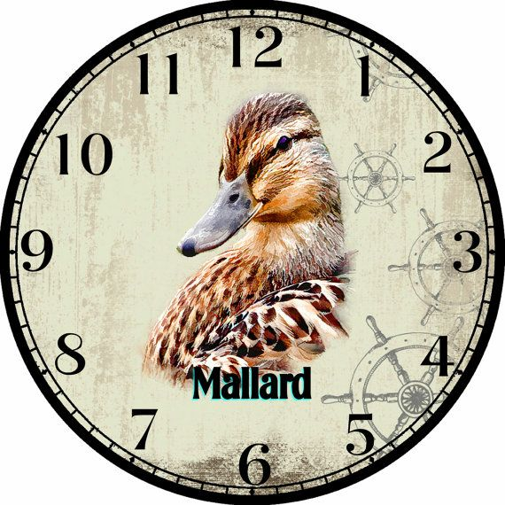 Portrait of a Female Mallard Art DIY Digital by CocoPuffsDesigns