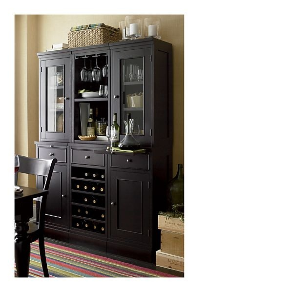 Mcallister buffet hutch crate barrel sunroom for Crate and barrel dining room ideas