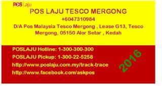 Latest updates: Poslaju Tesco Mergong #blogger #malaysia