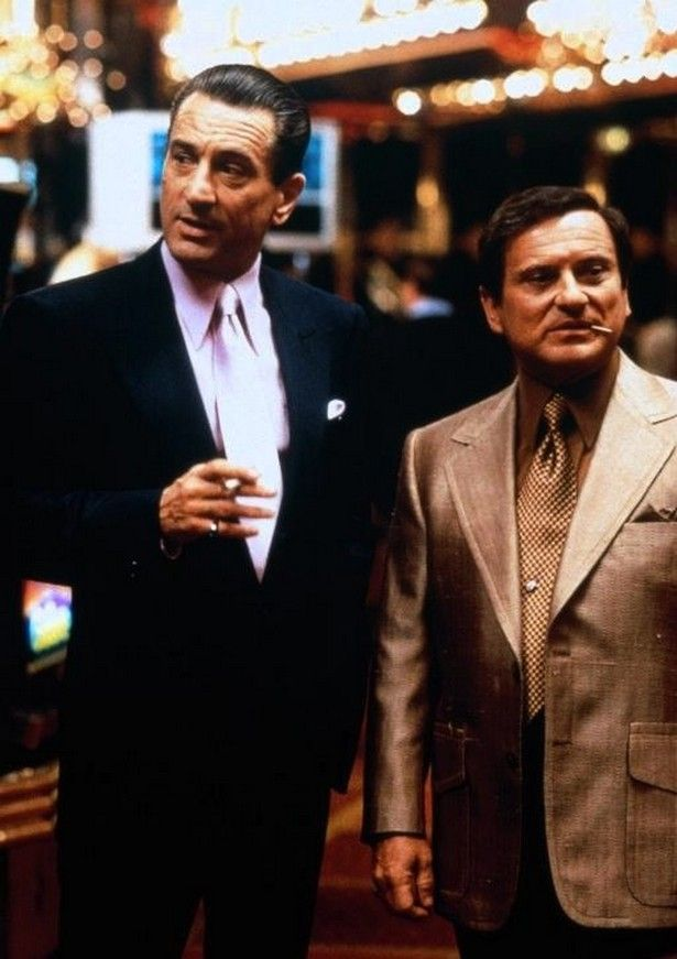Robert De Niro and Joe Pesci in 'Casino' (Film; 1995). My favorite movie.