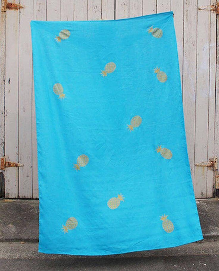 Linen Throw/Sarong - Turquoise