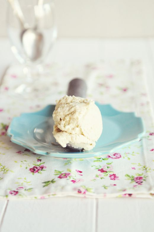 Homemade Banana Gelato Recipe - a great use for your ripe bananas! From Kristen @DineandDish