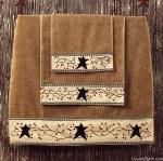 BATH TOWEL - STARS 'N BERRIES for your country bathroom