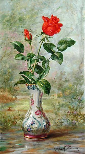 """The Crimson Rose, A Messenger of Love"""