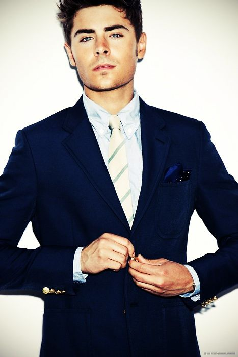 Not only is this Zac Efron, but dang I love a man in a suit ;)