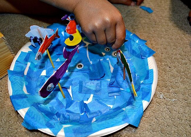 Fun ocean crafts for kids thinking of having the kids for Toddler fish tank