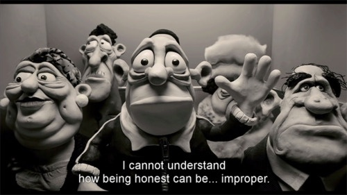 "Max in ""Mary And Max"" played by Philip Seymour Hoffman"