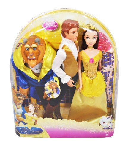 Disney Princess Beauty and the Beast Series 12 Inch Doll Set with Belle, Prince and Beast Outfit