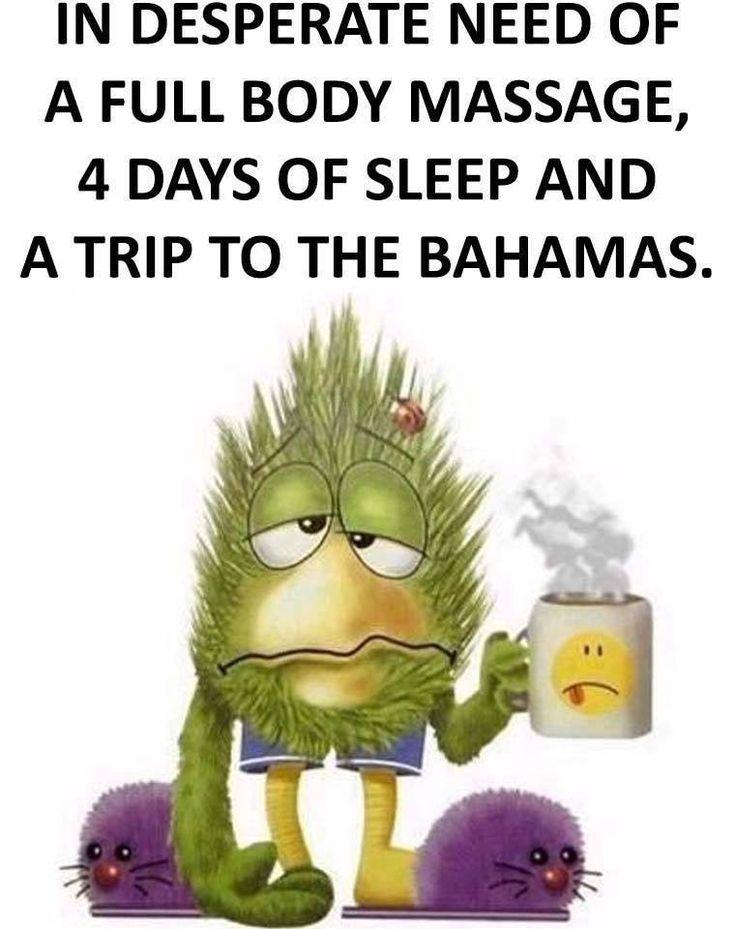 I I may be needing five days of sleep!!!