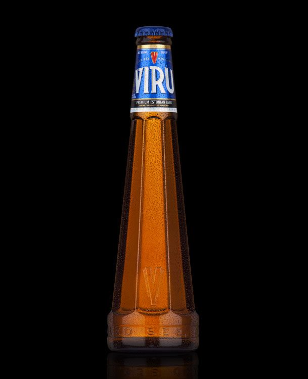 Viru is a British owned trademark. The beer is brewed and bottled in Estonia and on sale in exclusive clubs and restaurants around the world. Its initial development was ad-hoc and this was reflected in the conflict between label and bottle. The communication stressed a bit of everything and the brand lacked clarity...