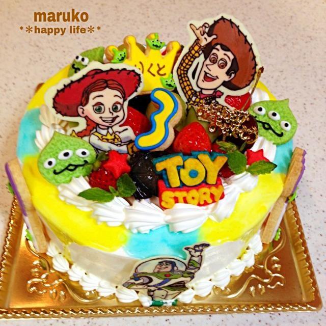 トイ・ストーリーケーキです。この3人希望で、チョコ作りましたが、気温が高くて大変でした(ΦдΦ) - 182件のもぐもぐ - トイ・ストーリーCake☆ by TAEKO ITO