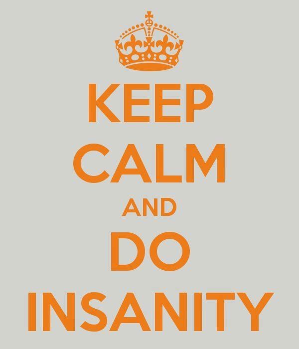 It's true! Doing Insanity or any workout will help reduce your stress level!