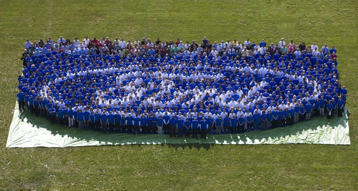 Today, Ford's credit rating was returned to investment grade status, meaning that we were able to get the Blue Oval returned to us. It had been mortgaged as part of the loan we took out to help the company survive in 2006. We got 1,000 employees together in a flash mob to celebrate. More at: http://social.ford.com/our-articles/cuvs/c-max/the-return-of-the-ford-blue-oval/: Human Blue Ov Ford, Ford Human Blue Ov, Ford Vehicles, Human Blue Oval Awesome, Congrat Ford, Human Blue Ov Blueovalprid, Icons Blue, Ford Blue, Ford Courtstreetford