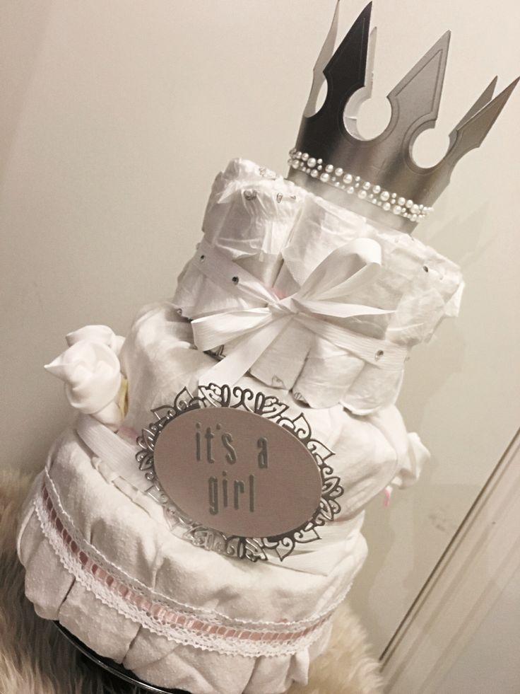 #diapercake #princess #bleiekake #itsagirl