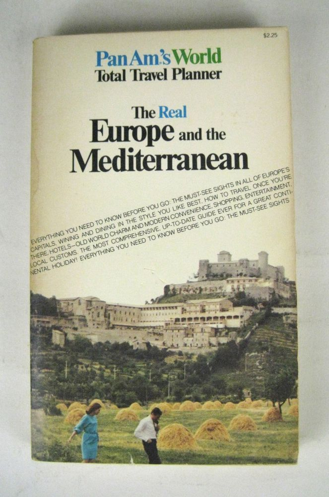 PAN AM World Total Travel Planner Europe and Mediterranean Book VTG 1960 ? PPB