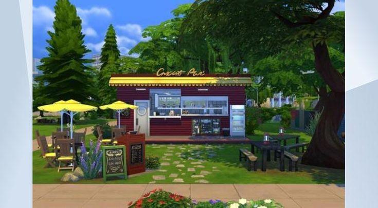 Sieh dir dieses Grundstück in der Die Sims 4-Galerie an! - Knusprige Pommes und leckere Würstchen!                               #nathalie #unseresimswelt #pommesbude #imbiss #burger #fastfood #diner #restaurant                                                       www.unsere-simswelt.de