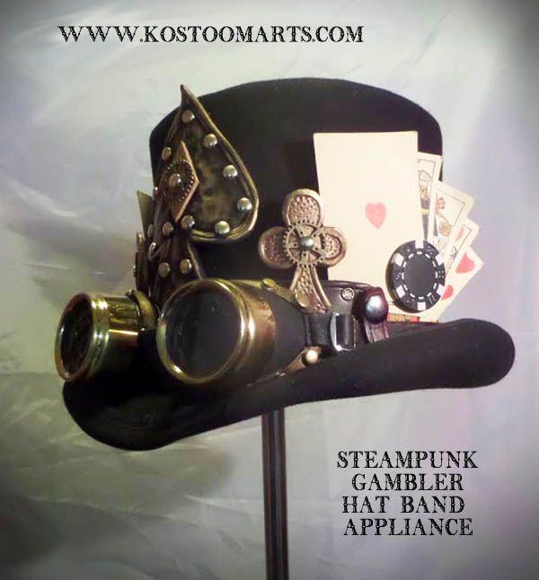 Steampunk gambler hat