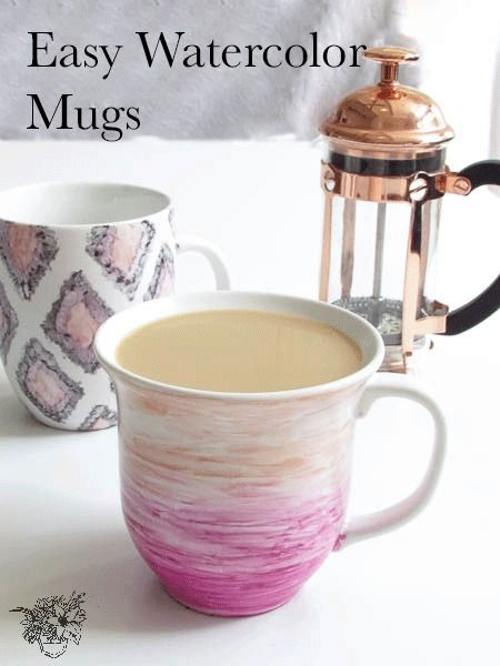 Easy Watercolor Sharpie Mugs - Including the right way to make a sharpie mug that will really last.