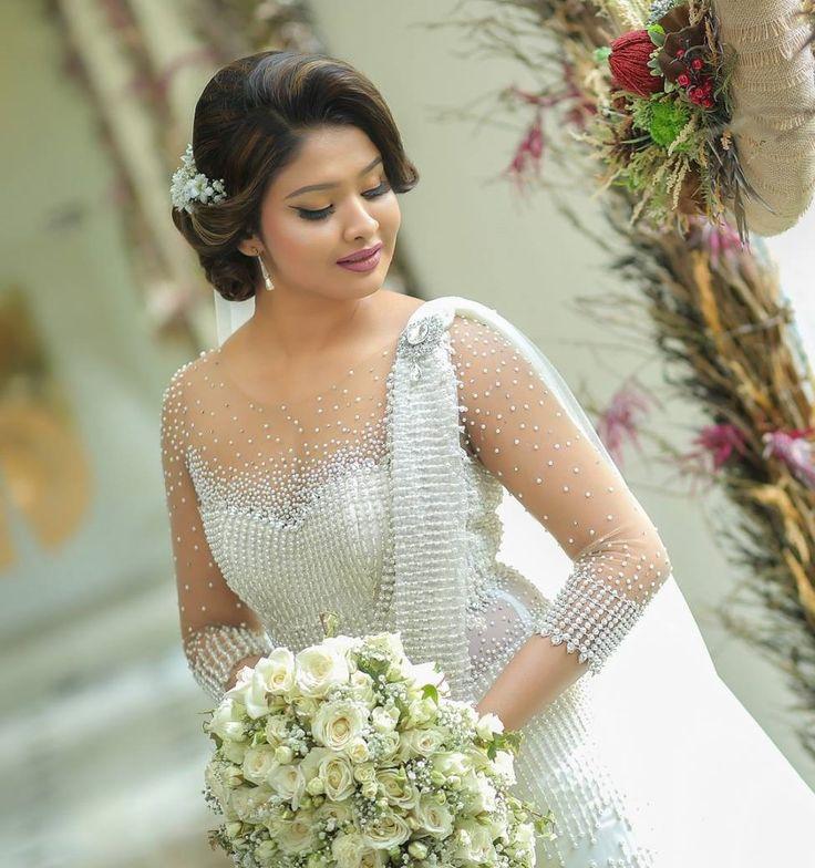 Christian Wedding White Gown: Salon Chandimal Sri Lanka