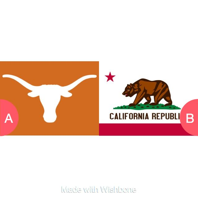 Texas or California? Click here to vote @ http://getwishboneapp.com/share/1737757