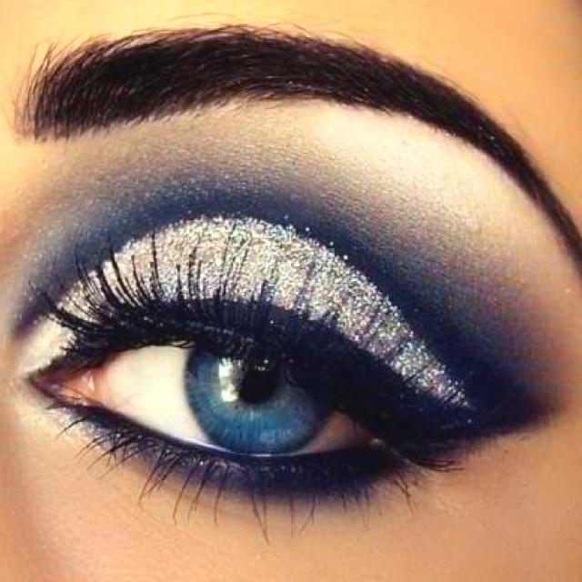 Silver eye makeup...