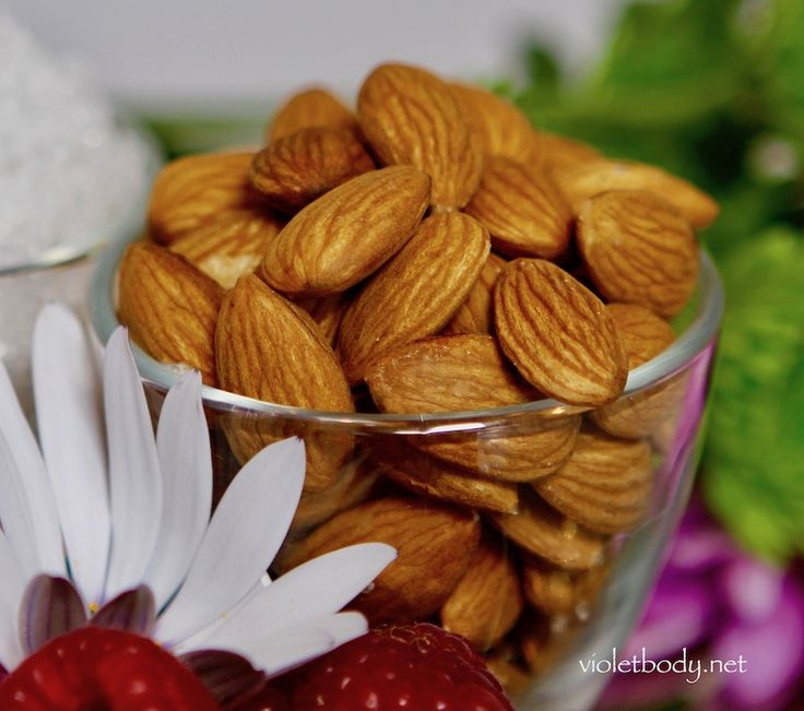"""Almonds beautify your skin because they're rich in antioxidant vitamin E, minerals like calcium and magnesium, dietary fibers, vitamin B, unsaturated fats (healthy fats) and protein. In fact, almonds are as nourishing for your skin as broccoli and green tea because of their flavonoids. Almonds are also know as """"the queen of the rose family"""" because botanically they're in the rose family. If you want rosy, glowing skin, eat a handful of almonds a day and use organic sweet almond oil on your…"""
